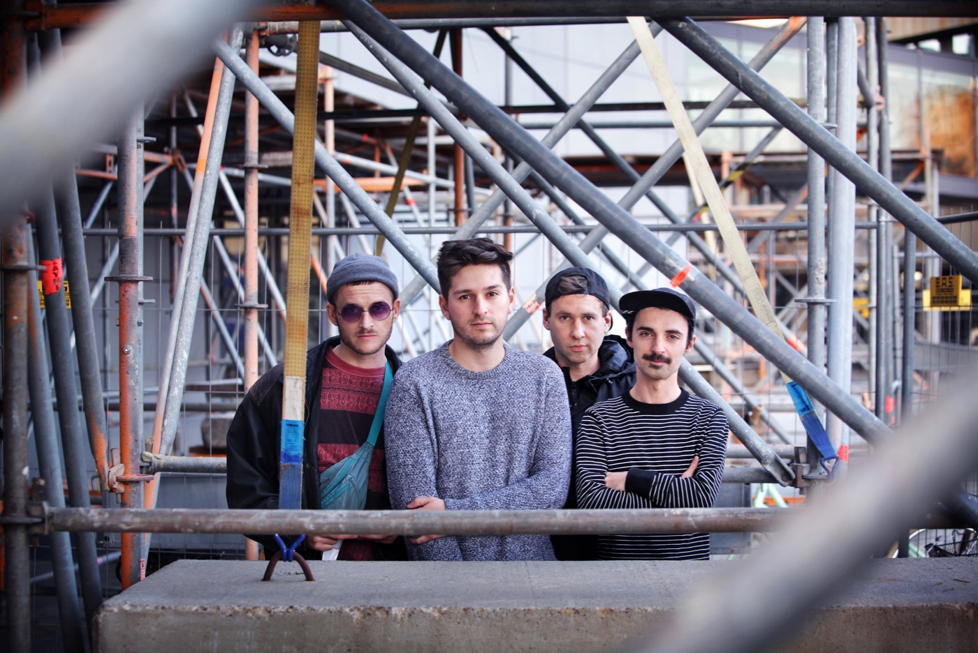 Die vier Jungs von Kafvka (von links): Jonas, Oscar, Stephan und Philipp.