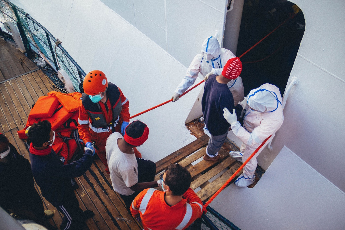 Auf dem 40 Meter langen Schiff mussten 150 Menschen auf einmal Platz finden.