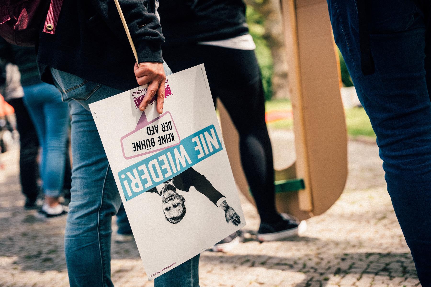 In Halle zeigen Engagierte klare Kante gegen die Positionen der AfD.